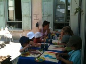 A table pour peindre